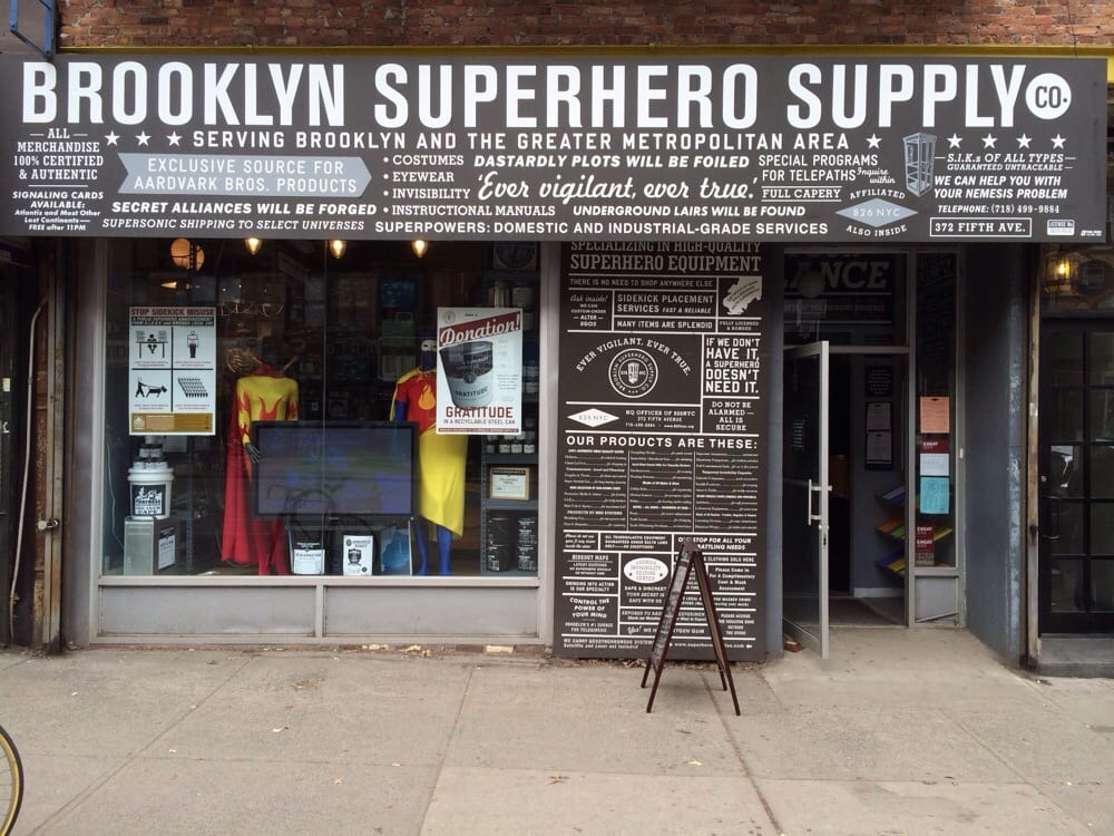 Photo from Brooklyn Superhero Supply Co.