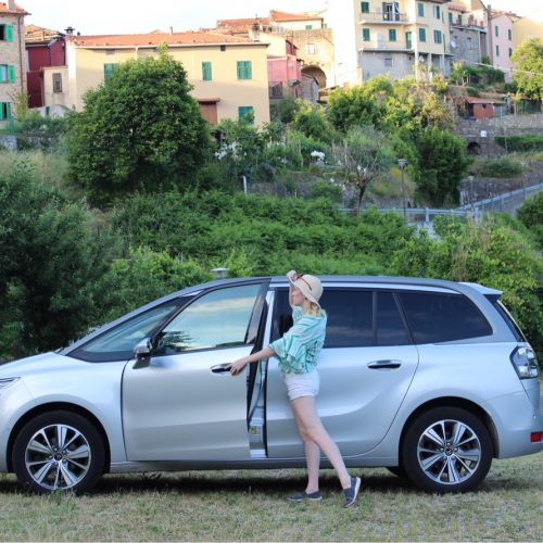 GST founder, Misty with her rental car from Green Motion Italia.