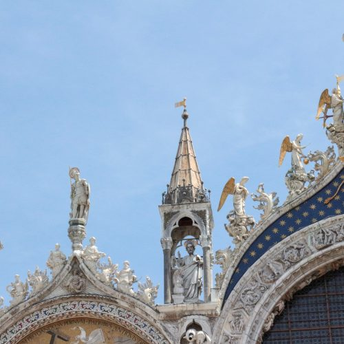 The top of San Marco Basilica in Venice. photo by Misty Foster.
