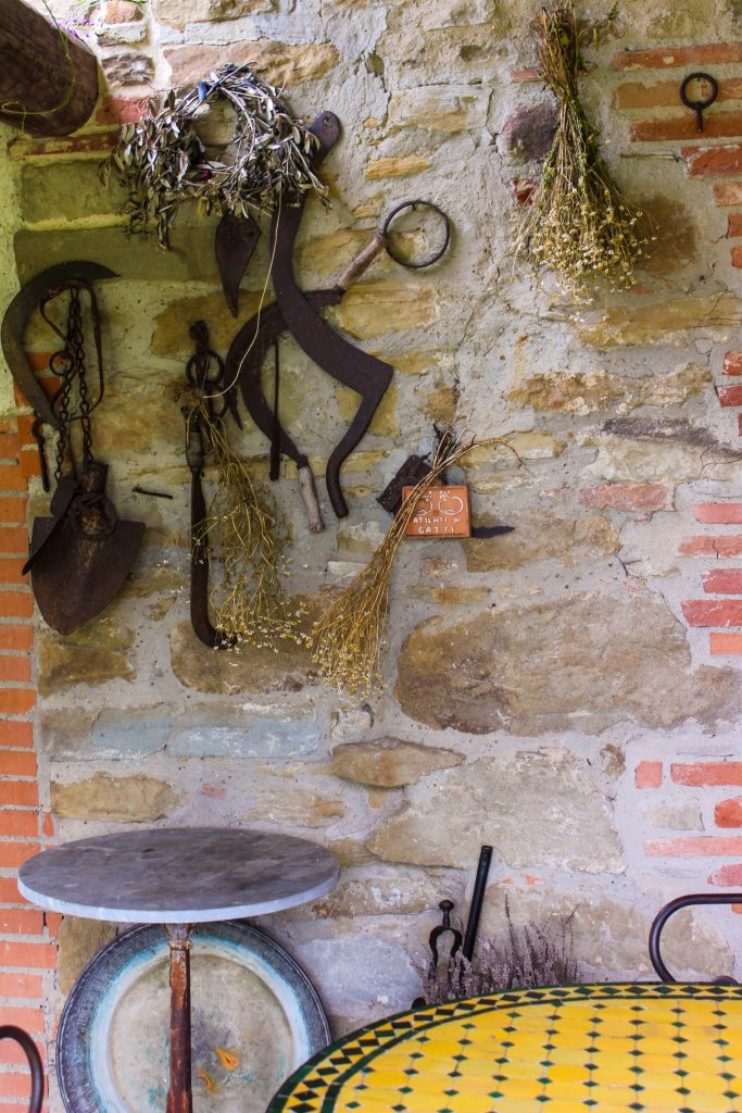 Garden tools and decor at Maraviglia.