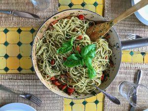 A bowl of organic pasta at Maraviglia.