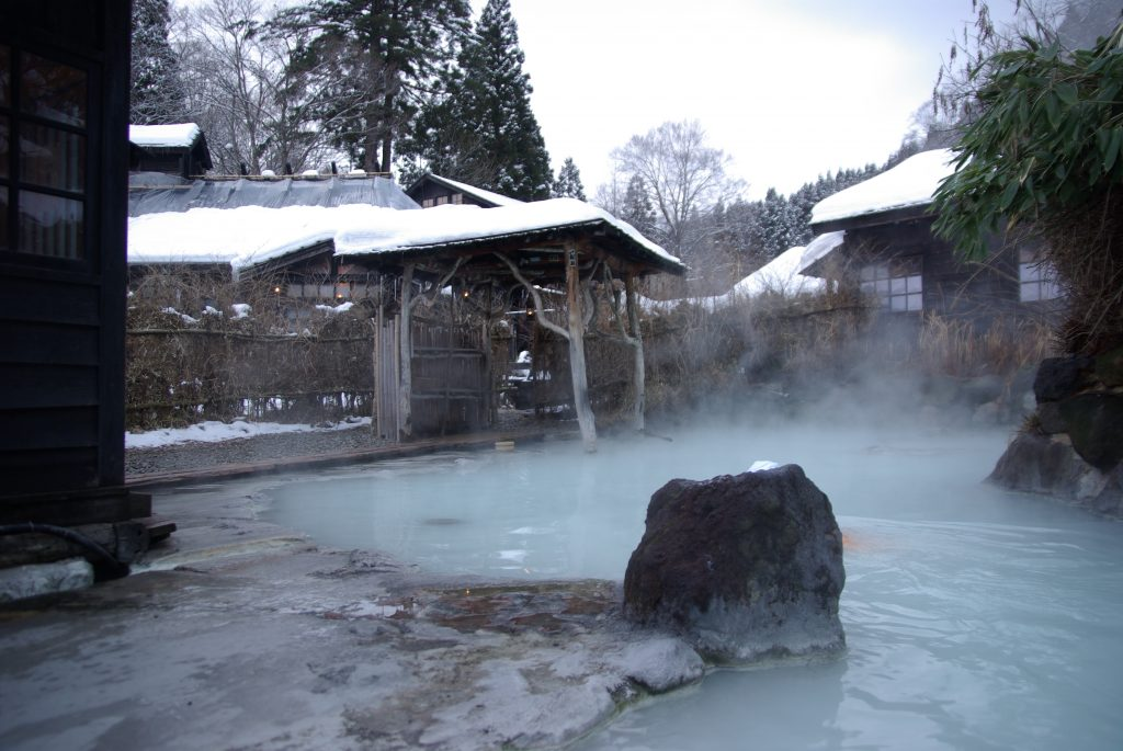 A Japanses Onsen. Photo courtesy of Wikipedia Commons.