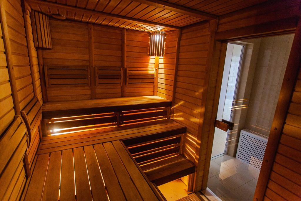 A hot sauna. Photo by Unsplash.