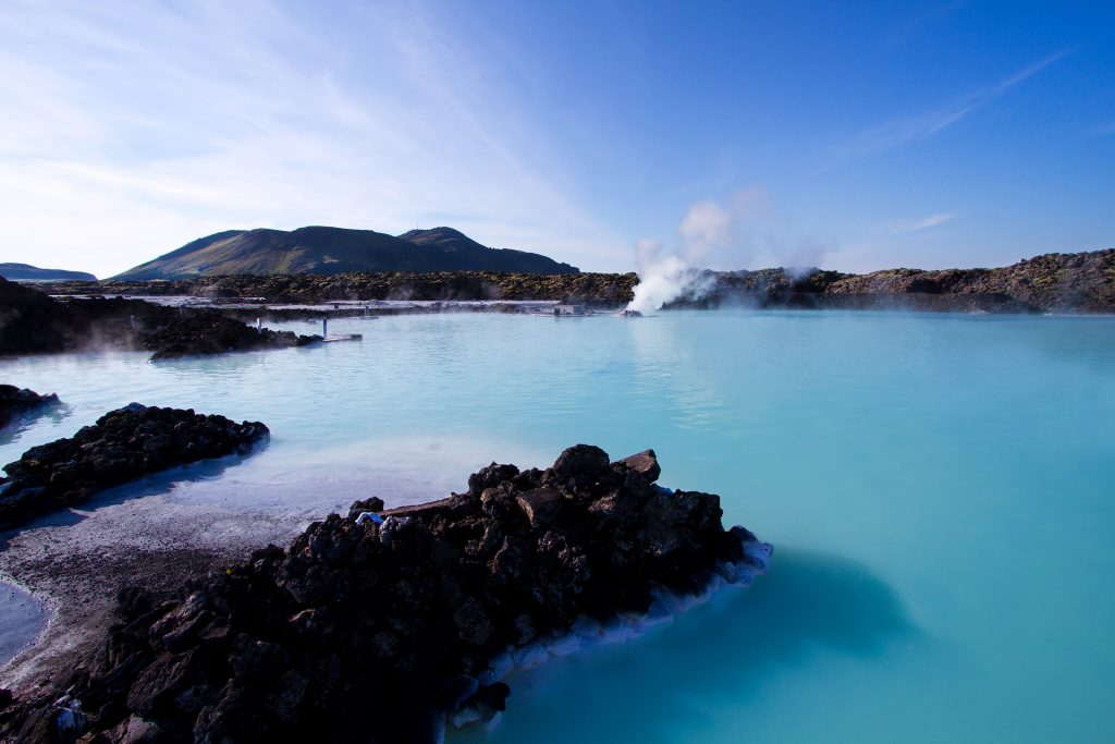 the blue lagoon in Iceland. Photo by Unsplash.
