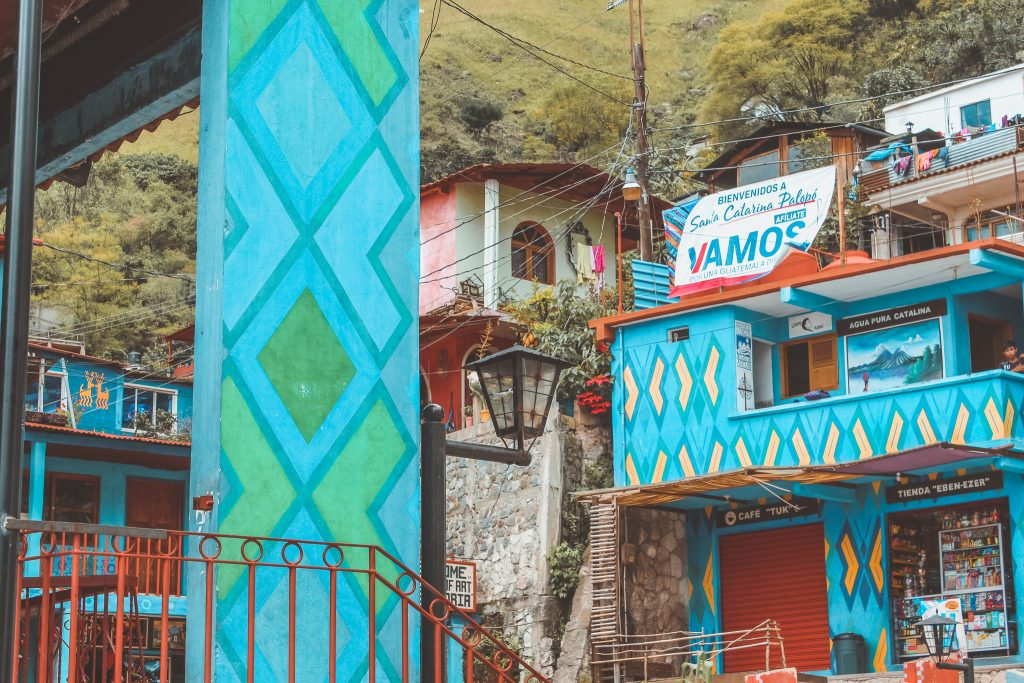 Painted houses in Santa Catalina Polopo