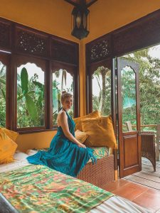 Green Suitcase Travel founder, Misty at Bali Eco-Lodge